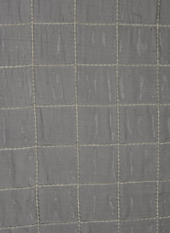 Foulard pashmina motif tartan, Noir