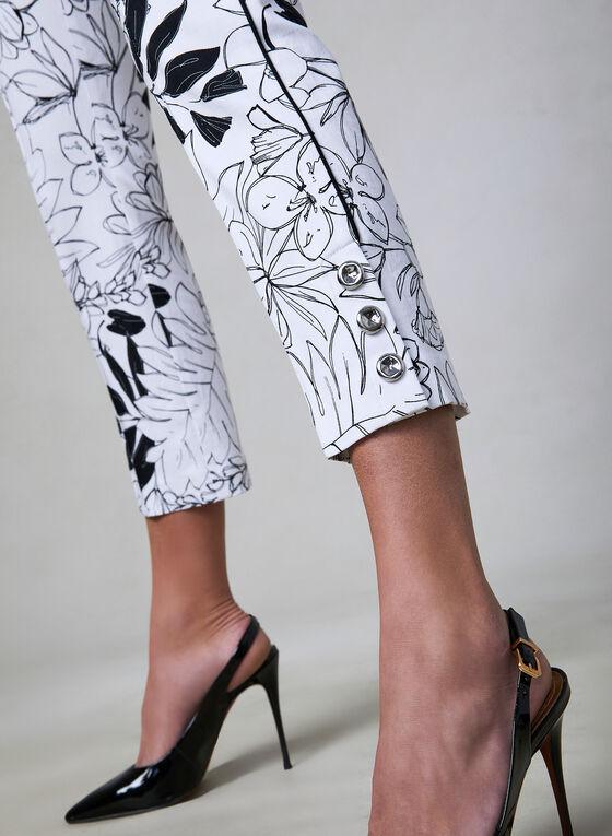 Capri pull-on motif floral, Noir