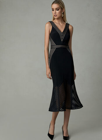 BA Nites - Sleeveless Trumpet Dress, Black, hi-res
