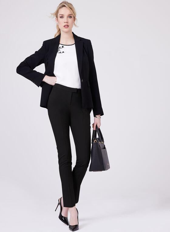 Louben - Pantalon tailleur à jambe étroite, Noir, hi-res