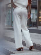 Contrast Stripe Knit Pull-On Pants, Off White