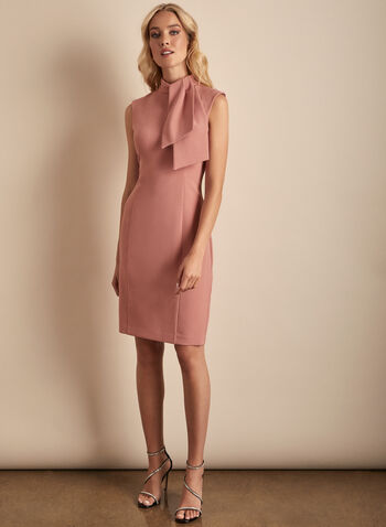 Harper Rose - Sleeveless Crepe Dress, Pink,  dress, cocktail dress, evening dress, Harper Rose, crepe, crepe dress, sleeveless, spring 2020, summer 2020