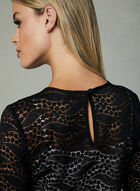 Long Sleeve Lace Top, Black, hi-res