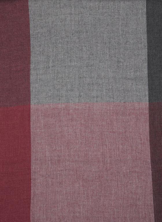 Foulard léger à blocs de couleurs, Rouge