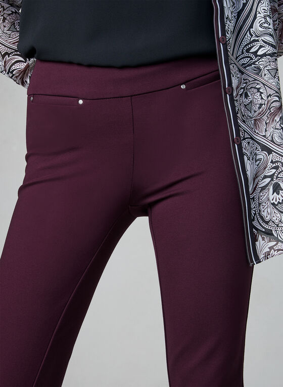 Pantalon Madison à taille pull-on, Violet