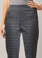 Houndstooth Print Madison Pants, Grey