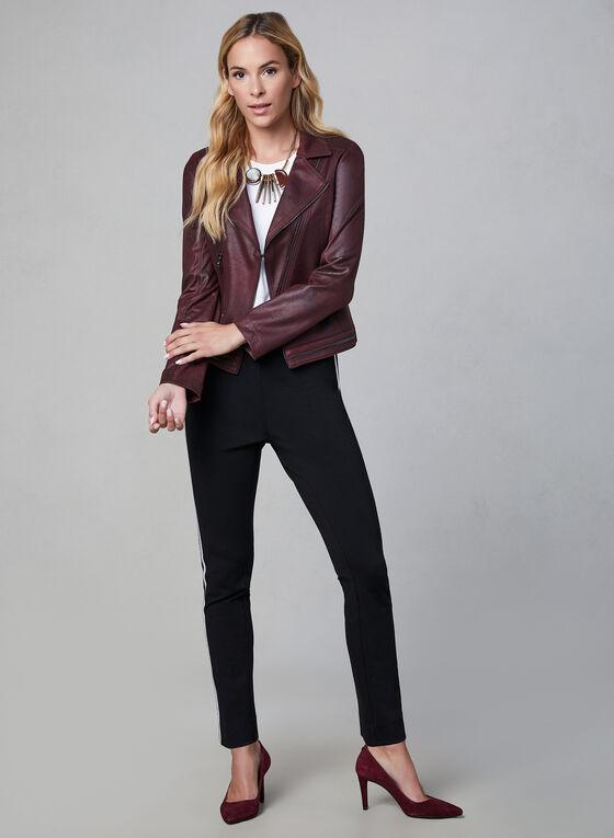 Vex - Blazer en faux cuir, Violet, hi-res