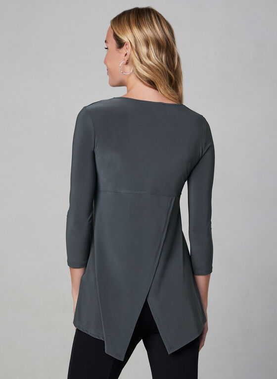 Zipper Front Top, Grey
