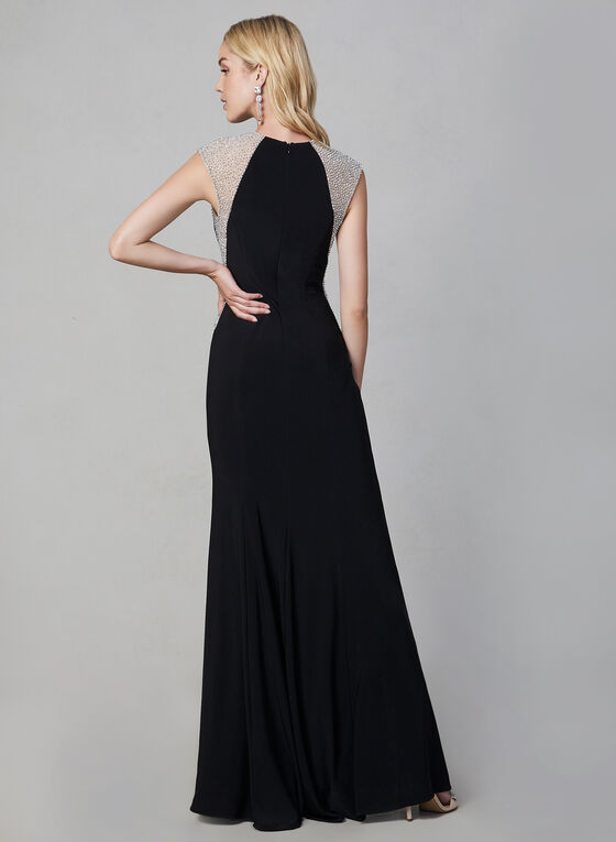 BA Nites - Beaded Dress, Black