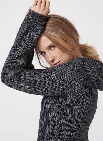 Off The Shoulder Cowl Neck Sweater, Grey, hi-res