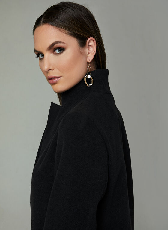Faux Wool Transition Coat, Black, hi-res