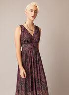Paisley Print Maxi Dress, Multi