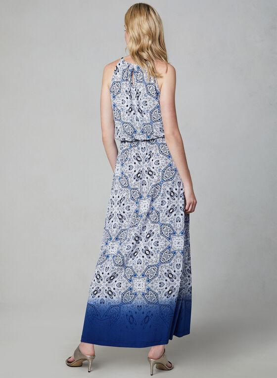 Maggy London - Mosaic Print Maxi Dress, Blue