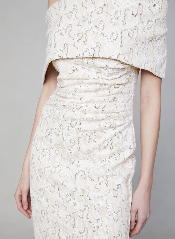 Vince Camuto - Sequin Lace Mermaid Dress, Off White, hi-res