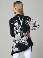 Frank Lyman - Haut ouvert à imprimé floral, Noir, hi-res