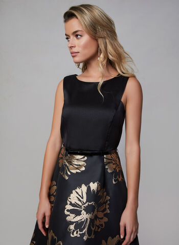 Donna Ricco - High Low Dress, Black,  fall winter 2019, sleeveless, fit & flair, high-low hem