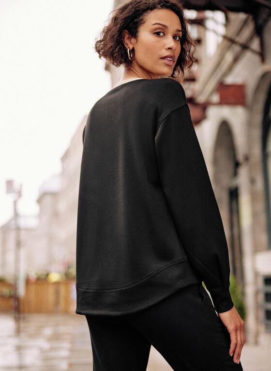 Stud Detail Sweater, Black