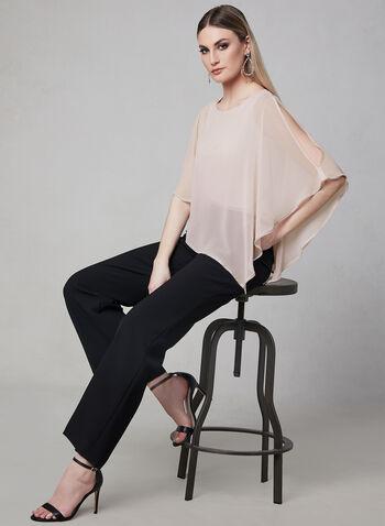 Frank Lyman - Crystal Trim Poncho Blouse, Pink, hi-res