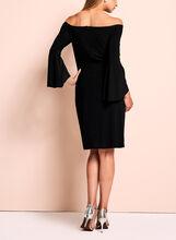 Cachet - Off The Shoulder Bell Sleeve Dress, Black, hi-res