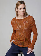 Pull tricoté en crochet, Orange