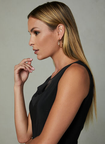 Joseph Ribkoff - Drape Neck Top, Black, hi-res