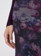 Floral Print Pencil Skirt, Red, hi-res