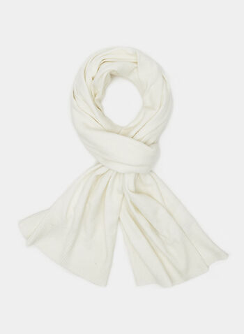 Wool Blend Scarf, Off White, hi-res