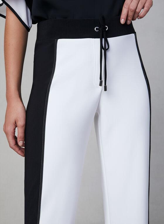 Joseph Ribkoff - Two-Tone Pants, White, hi-res