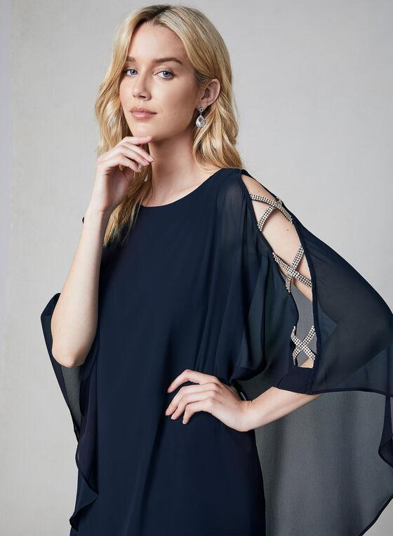 Xscape - Robe en mousseline à détails cristaux, Bleu