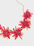 Collier chaîne à fleurs multiples, Rose, hi-res