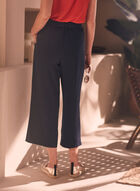 Pantalon gaucho en bengaline, Bleu