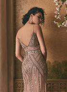 Marina - Robe en maille filet ornementée, Rose