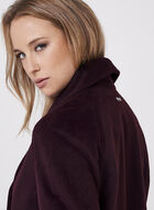 Novelti - Wool-Like Draped Lapel Coat, Red, hi-res