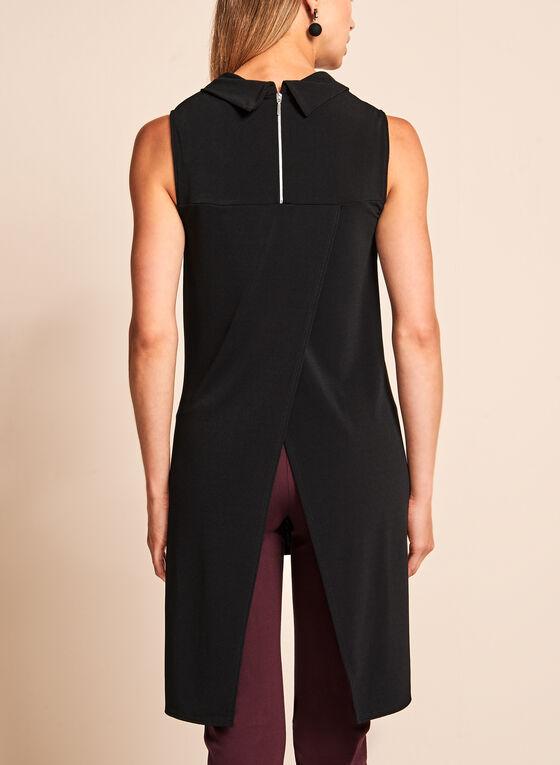 Cowl Neck High-Low Tunic, Black, hi-res