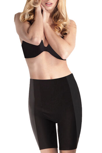 Body Hush Thigh Slimmer Short, Black, hi-res