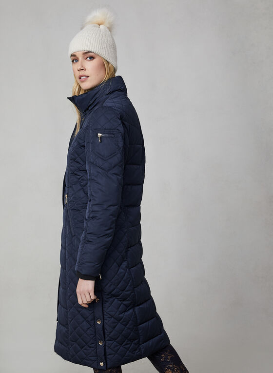 Chillax - Manteau long matelassé, Bleu