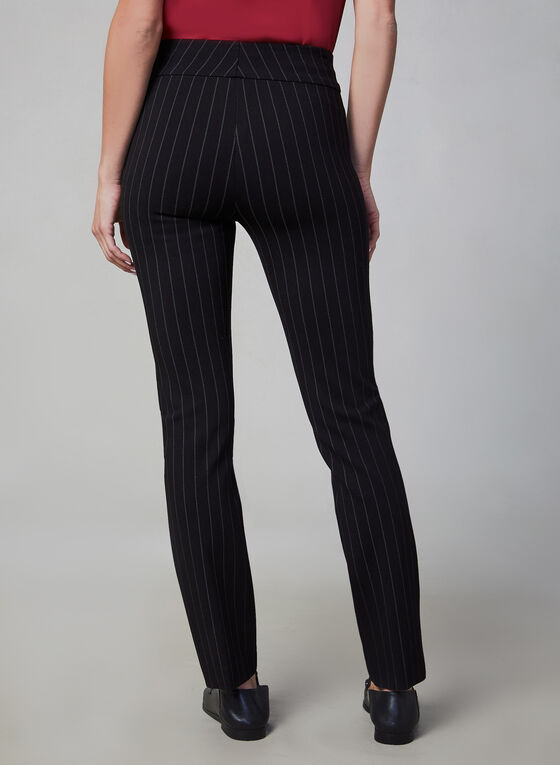 Pantalon Madison à motif rayé, Noir, hi-res