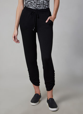 Vince Camuto - Jogging Pants, Black,  Vince Camuto, pants, jogging pants, drawstring, elastic waist, fall 2019, winter 2019