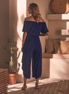 Off-the-Shoulder Jumpsuit, Blue