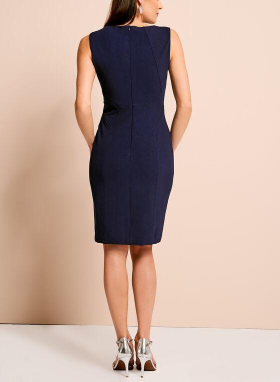 Ivanka Trump Crepe Sheath Dress, Blue, hi-res
