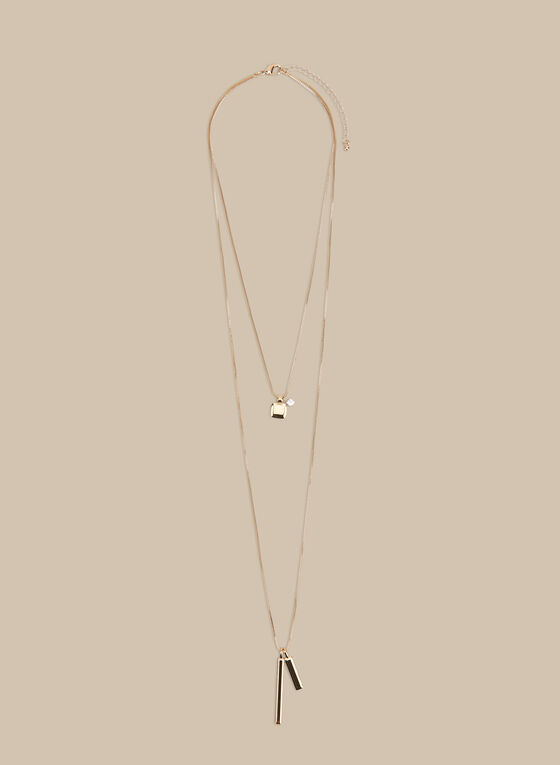 Double Chain Necklace, Gold