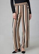 Pantalon large à rayures et boutons, Blanc, hi-res