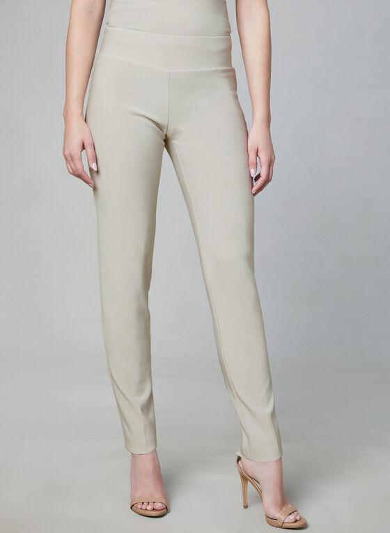 Frank Lyman - Slim Leg Pull-On Pants, Off White, hi-res