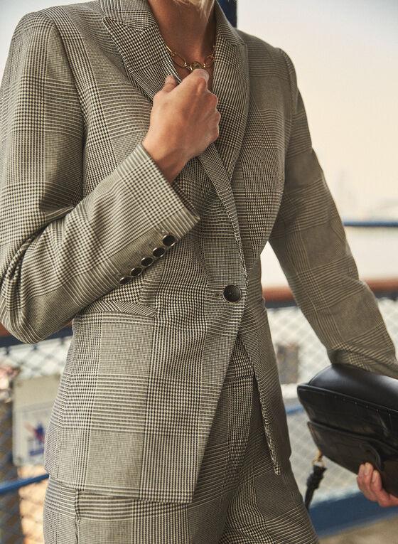 Veste tailleur à carreaux, Noir
