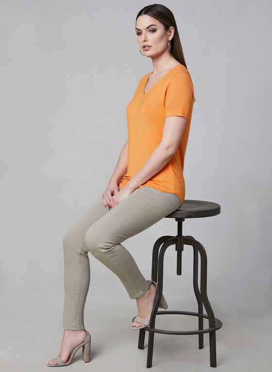 V-Neck T-Shirt, Orange, hi-res