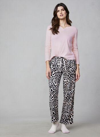 Pillow Talk - Three-Piece Pyjama Set, Pink,  Pillow Talk, pyjamas, sleepwear, socks, fleece, cotton, fall 2019, winter 2019