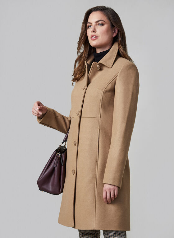 Novelti - Button Down Coat, Brown