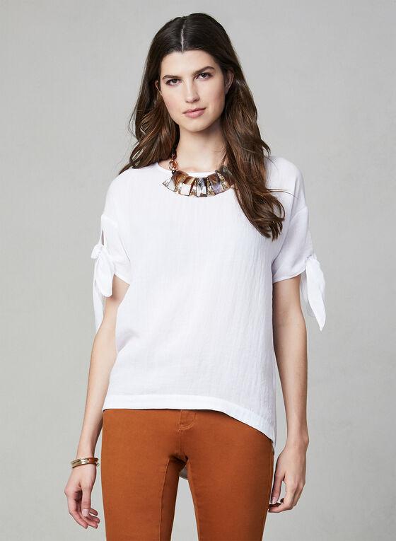 Linen Effect Top, White