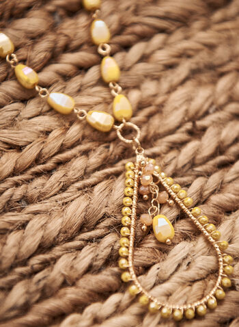 Textured Pendant Necklace, Gold,  spring summer 2021, jewelry, jewellery, accessories, stones