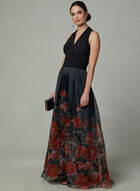 Ignite Evenings - Organza Ball Gown, Black, hi-res